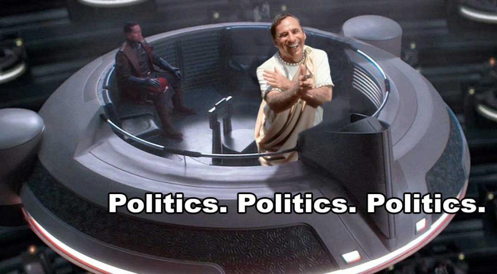 Mel Brooks stand up philosopher in the Star Wars Republic Senate