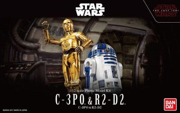 Star Wars 1/12 C-3PO & R2-D2 Model Kit Box