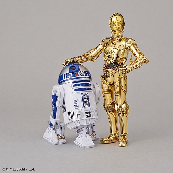 Star Wars 1/12 C-3PO & R2-D2 Model Kit Counterparts